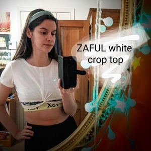 ✨3 for $40 ZAFUL white crop top 🤍